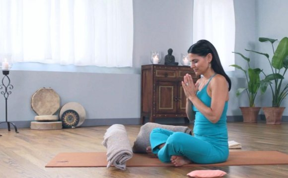 Relaxing yoga pose to help