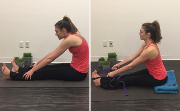Seated forward fold yoga