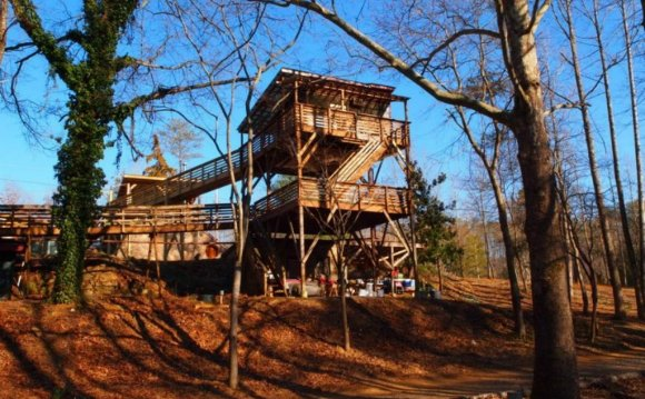 Eco tree house in Virginia