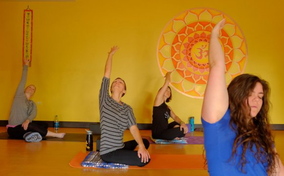 A session at Harmony Yoga in