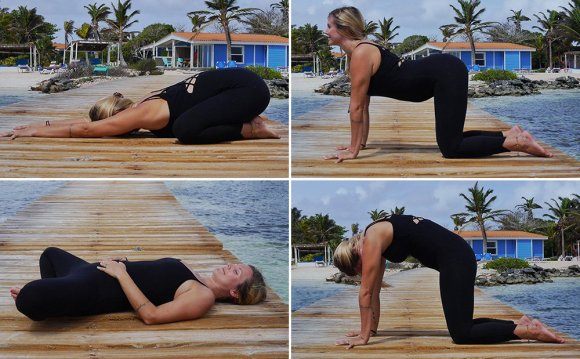 Relaxing yoga poses
