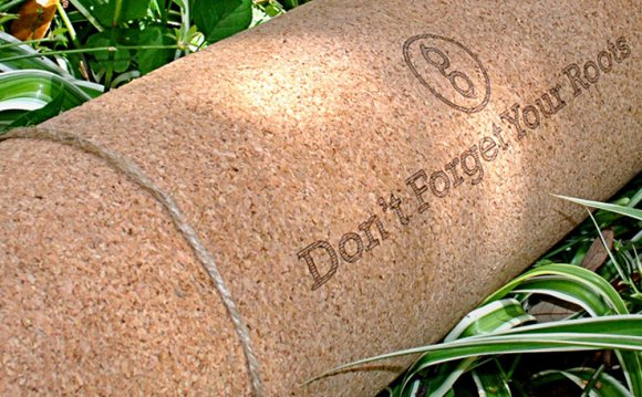 A Natural Cork Yoga Mat