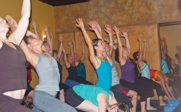 Photo: practicing yoga
