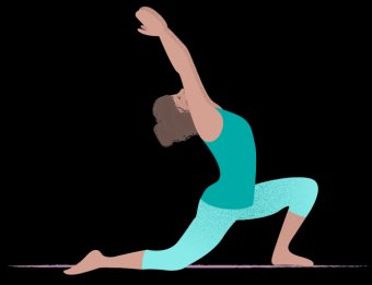 Anjaneyasana, low-lunge, a yoga pose for after a run.