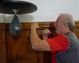 Army Veteran boxercising