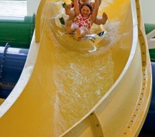 Evergreen aviation museum water slide fvcoz5