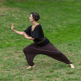 GO WITH THE FLOW: Rosenberg brings together the ancient practices of yoga and qi gong in one flowing class.