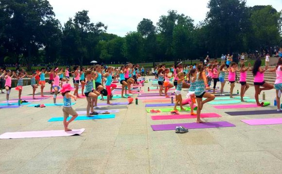 Tree pose in Yoga Virginia