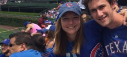 Longtime Chicago Cubs fan Caitlin Swieca said she will donate to a local anti-domestic violence organization every time pitcher Aroldis Chapman gets a save. | Provided photo