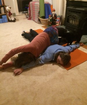smasher partner yoga pose